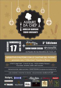Terza Edizione di Auguri da Chef con Aurelio Damiani e Fabio Greganti